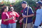 Bill Rosendahl With Volunteers